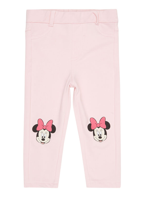 rosa Hose mit Minnie Mouse Print fuer Kinder