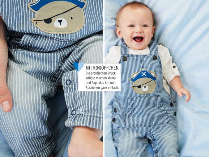Baby in Piratenlatzhose