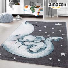 Teppich mit Elefanten-Print