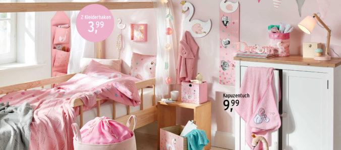 rosa eingerichtetes Kinderzimmer