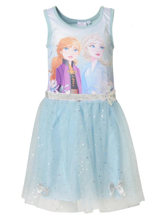 Kleid mit Eiskoenigin-Motiv fuer Maedchen