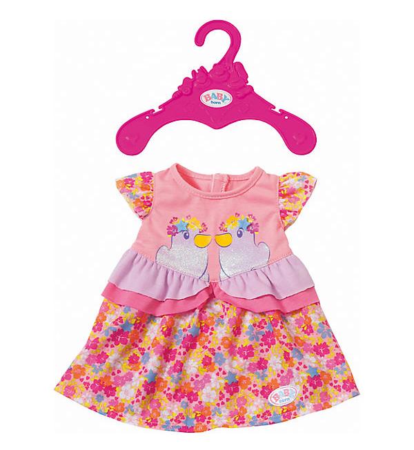 gemustertes Kleid für Baby Born Puppen