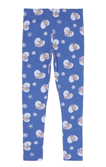 lila Leggings mit Frozen Print fuer Kinder