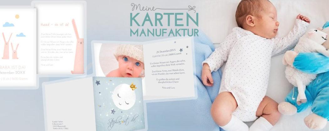 Banner: So kannst du Babykarten ganz individuell gestalten!