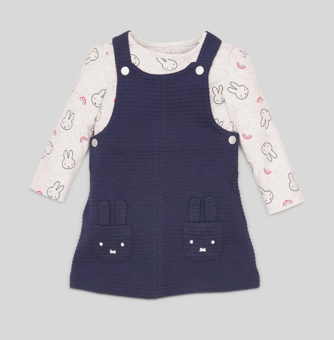 Kleid und Pullover mit Miffy Print für Babys