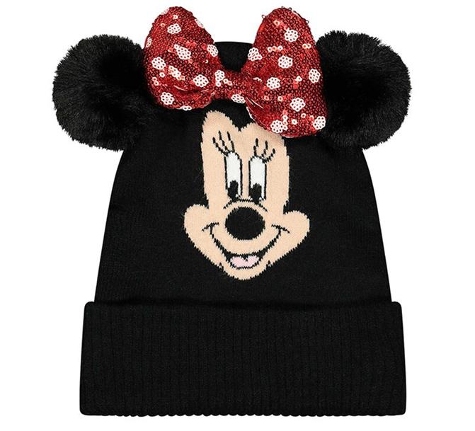 Minnie Mouse Mütze mit Schleife und Ohren für Mädchen