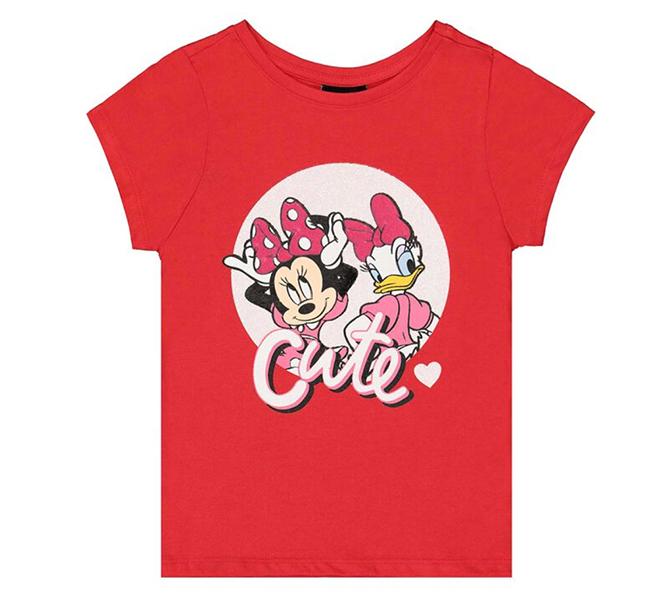 rotes Minnie Mouse T-Shirt für Mädchen