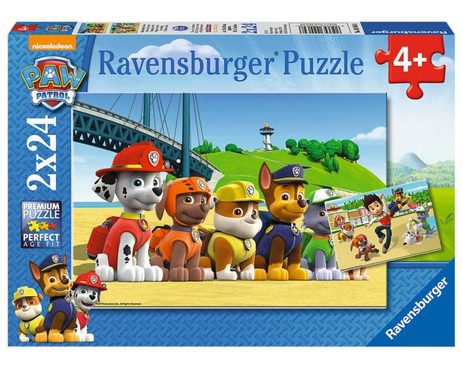 Zwei paw Patrol Puzzle fuer Kinder ab 4 Jahren