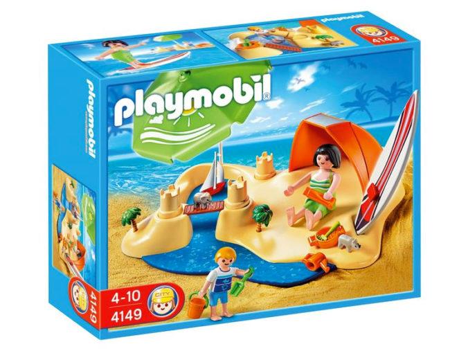 Karton von Playmobil Spielset Strandurlaub