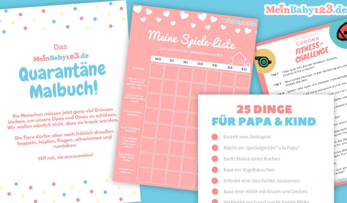 Quarantäne-Malbuch als PDF