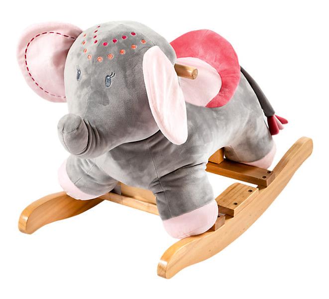 Plueschschaukelelefant fuer Kinder