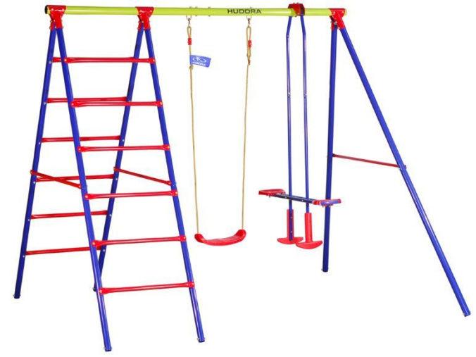 Schaukelgestell für Kinder mit Kletterstangen und Schaukeln