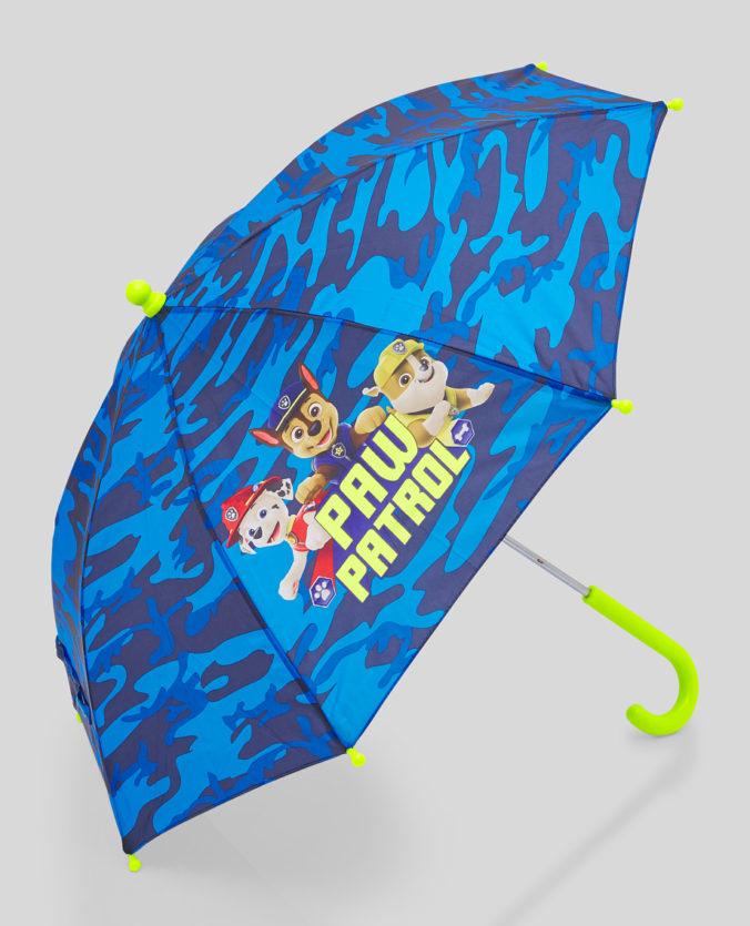 blauer Paw Patrol Regenschirm fuer Kinder