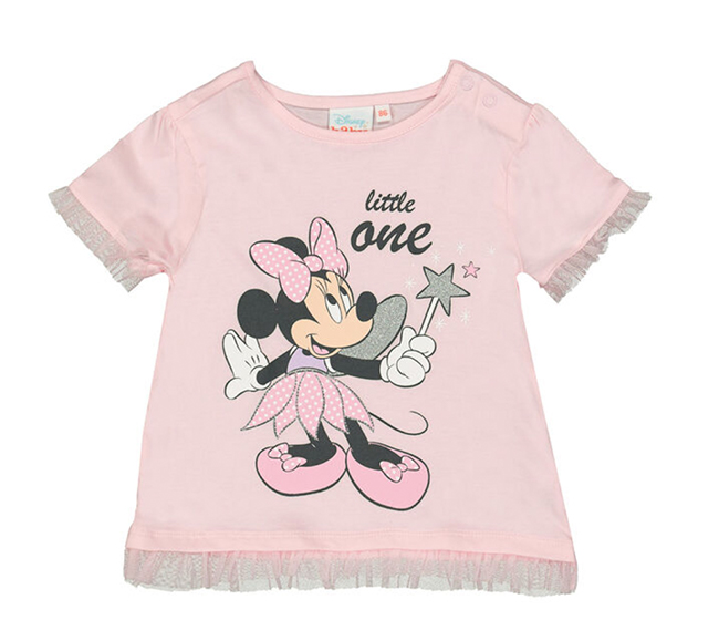 rosa Kinder-T-Shirt mit Minnie Mouse Print