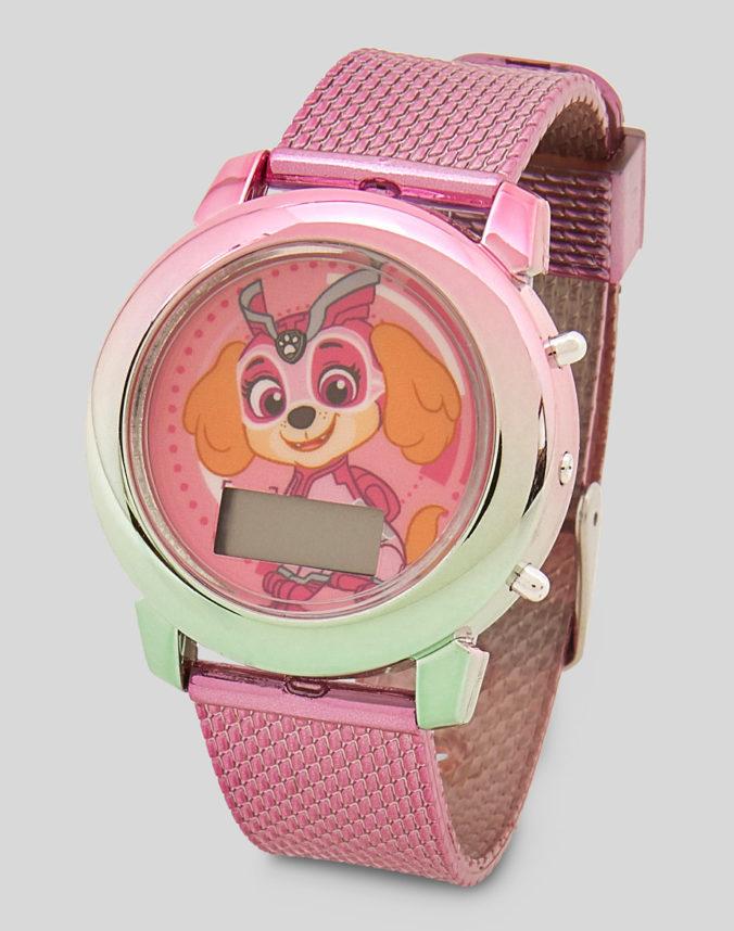Pinke Uhr mit Skye von Paw Patrol fuer Maedchen