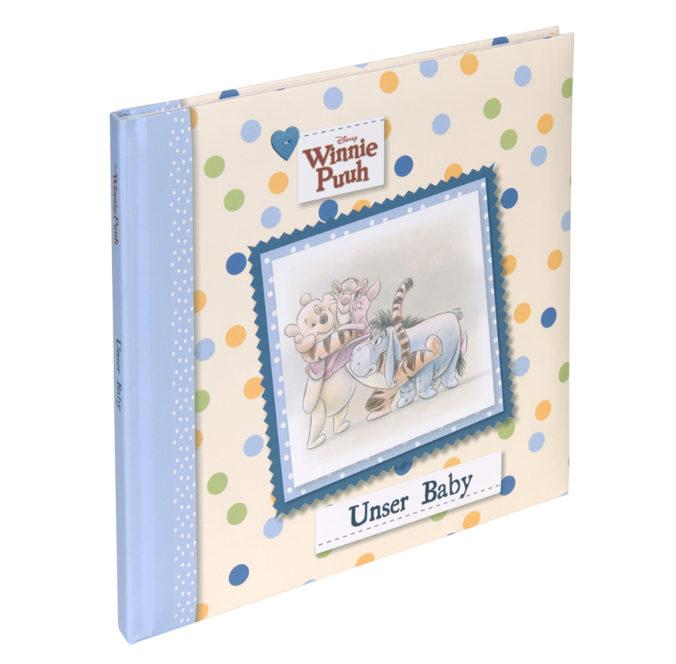 blaues Babyalbum mit Winnie Puuh Design