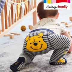 Baby in Winnie Puuh Strumpfhose