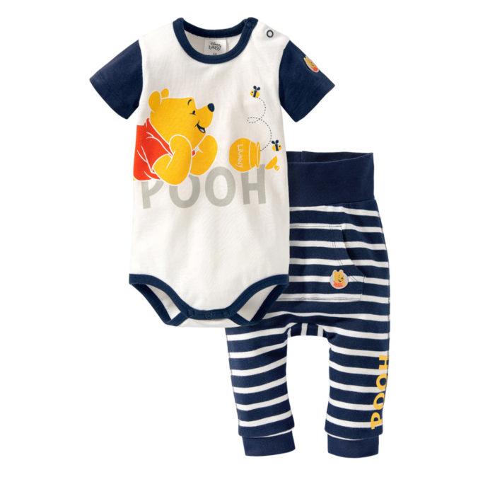 Baby-Outfit aus Body und Hose mit Winnie Puuh Print