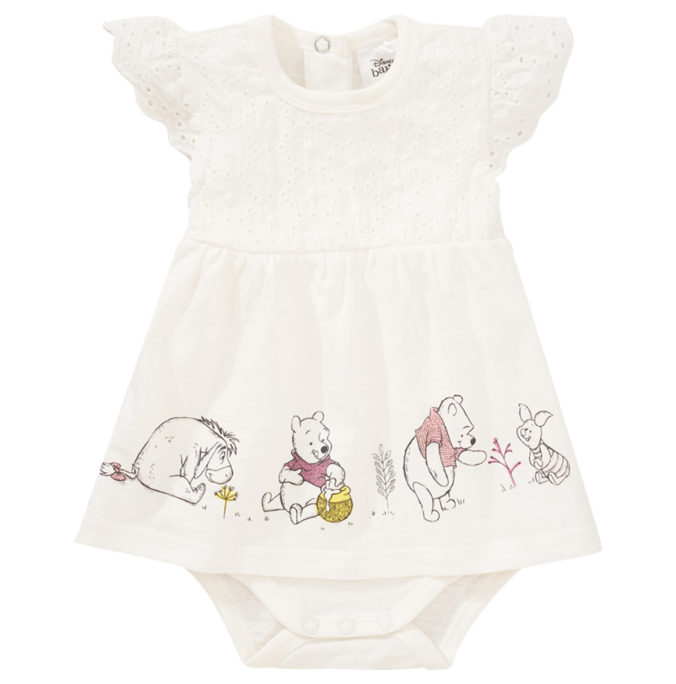 Weißes Winnie Puuh Bodykleid für Babys