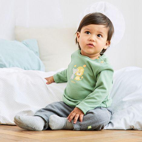 babywalz Baby Outfit Löwe grün