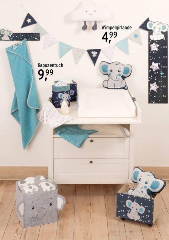Kinderzimmer mit Elefantendeko