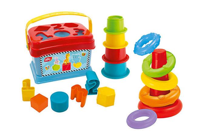 Sortier- und Stapelspiele für Babys
