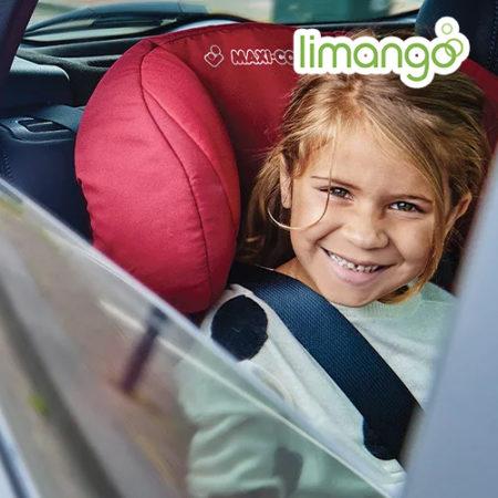 Mädchen sitzt in Autositz