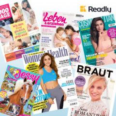 übereinander gelegte Zeitschriften