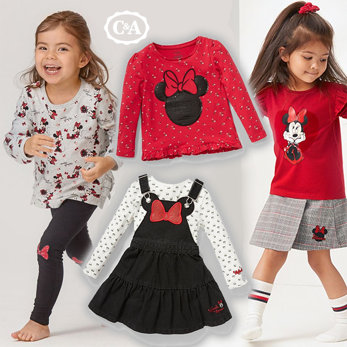 Mädchen in Minnie Mouse Mode