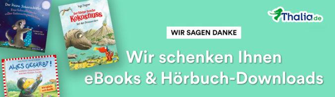 Banner gratis Hörbücher und eBooks von Thalia