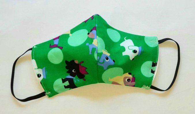 Mundschutz Maske Behelfsmaske für Kinder mit Tier-Design