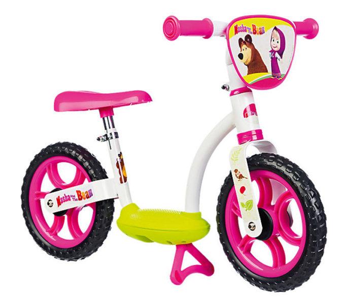 weiß/pinkes Laufrad im Mascha und der Bär Design