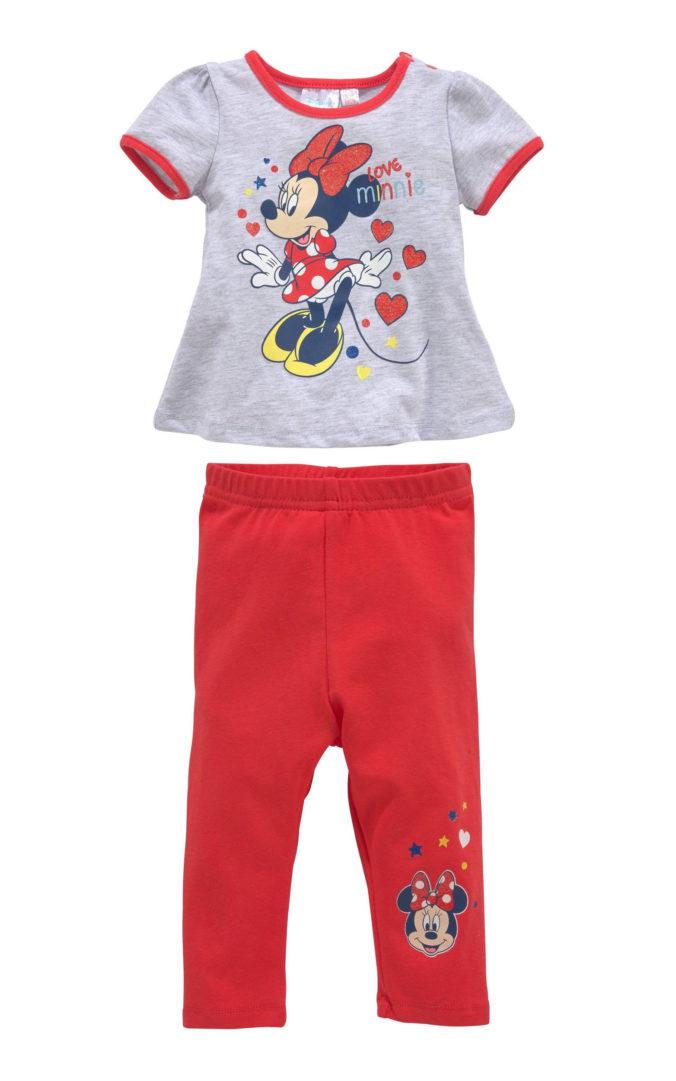 Leggings und Longshirt mit Minnie Mouse Motiv für Mädchen