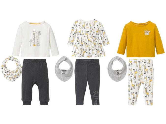 3-teilige Mode-Sets für Maedchen mit Giraffen-Print
