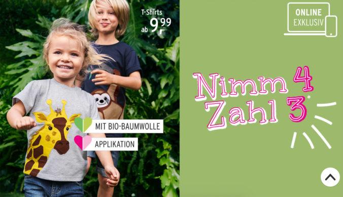 Mädchen und Junge in T-Shirts mit Tiermotiven