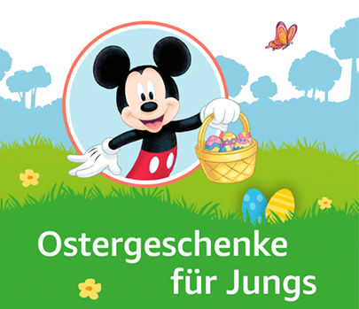 Mickey Mouse mit Osterkörbchen