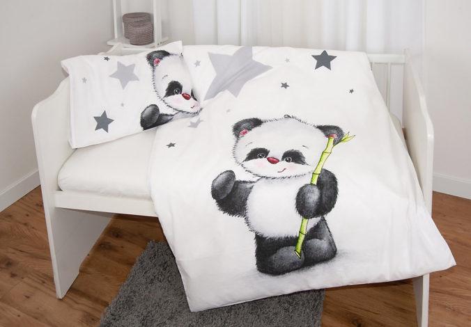 Bettwäsche mit Panda-Motiv für Kinder