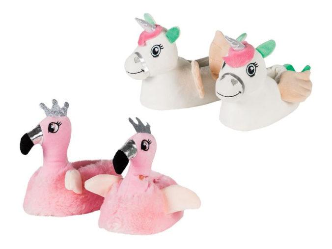 Einhorn- und Flamingo-Pantoffeln für Mädchen