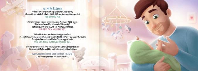 Seite aus der dem Papa-Buch von HurraHelden