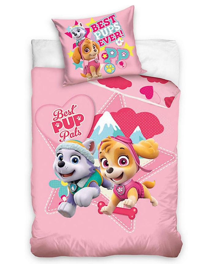 Rosa Paw Patrol Bettwäsche für Kinder