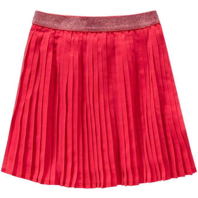 roter Plissee-Rock für Mädchen
