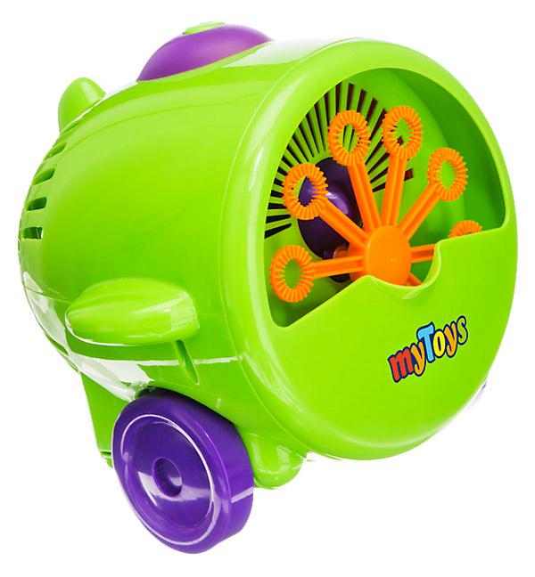 grüne Seifenblasenmaschine