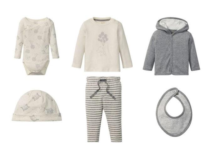6-teiliges Modeset mit Elefanten-Print für Kleinkinder
