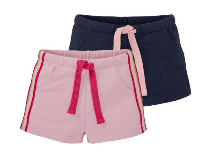 rosa und dunkelblaue Shorts für Mädchen