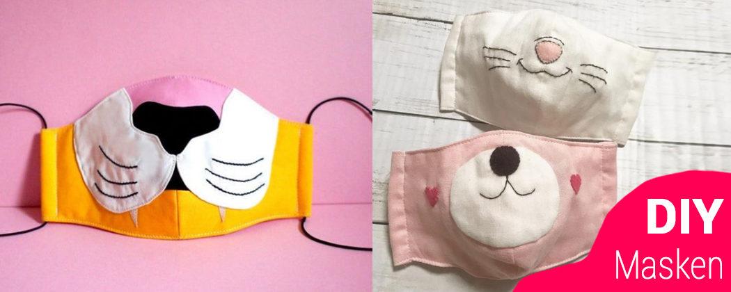 Banner: DIY Mundschutzmasken für Kinder – zum selbst nähen!