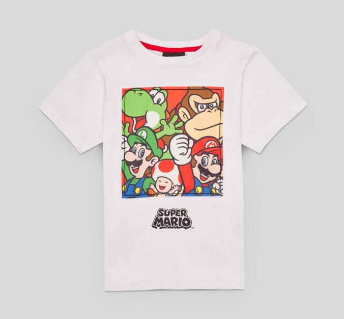 T-Shirt mit Super Mario Motiv für Kinder