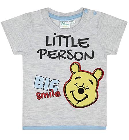 graues T-Shirt mit Winnie Puuh Print für Kinder