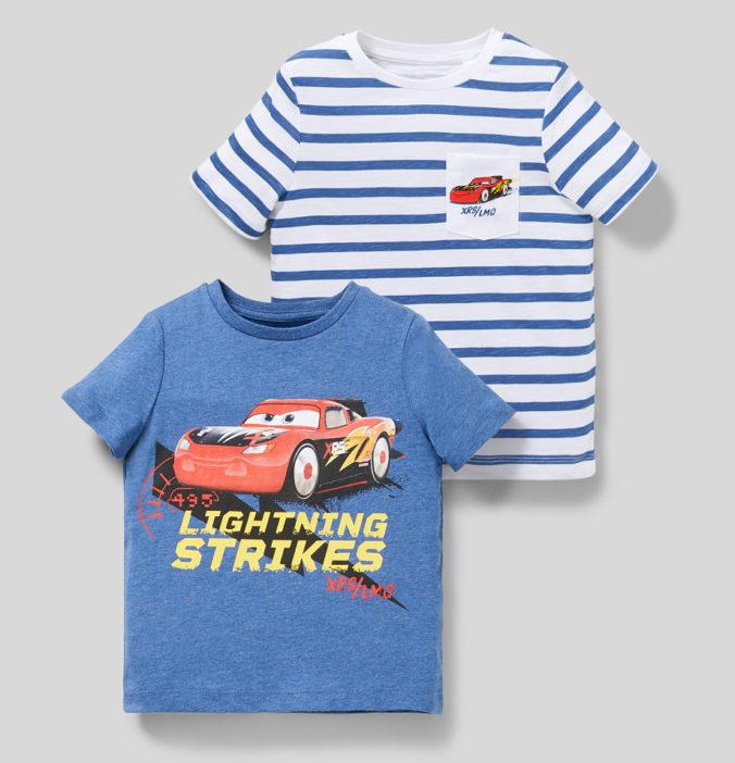 zwei T-Shirts mit Cars-Motiven für Jungen