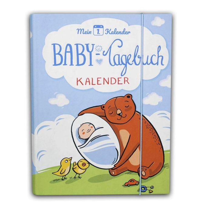 Hellblaues Babytagebuch für das erste Lebensjahr