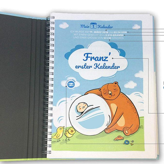 Personalisiertes Babytagebuch